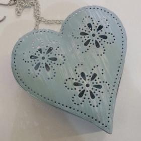 Suport lumânare – Inimioară cu floricele