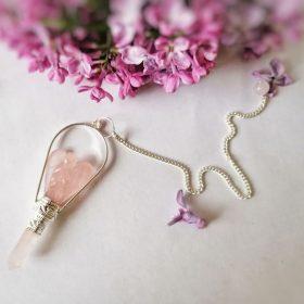 Pendul Înger Păzitor – cuarț roz