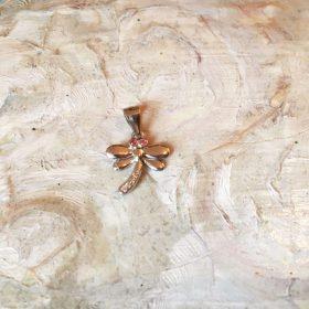 Pandantiv libelulă cu ștrasuri