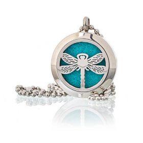 Medalion cu lănțișor pentru aromaterapie – libelulă