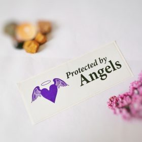 Protected by angels – Sticker/autocolant