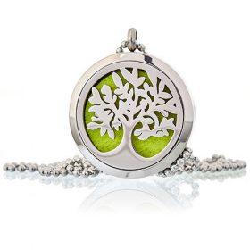 Medalion cu lănțișor pentru aromaterapie – copacul vietii