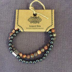 Brățară magnetică – piatră piele de leopard