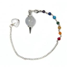 Pendul – brățară cu cristal de cuarț – 7 chakre