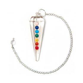Pendul cristal de cuarț șlefuit